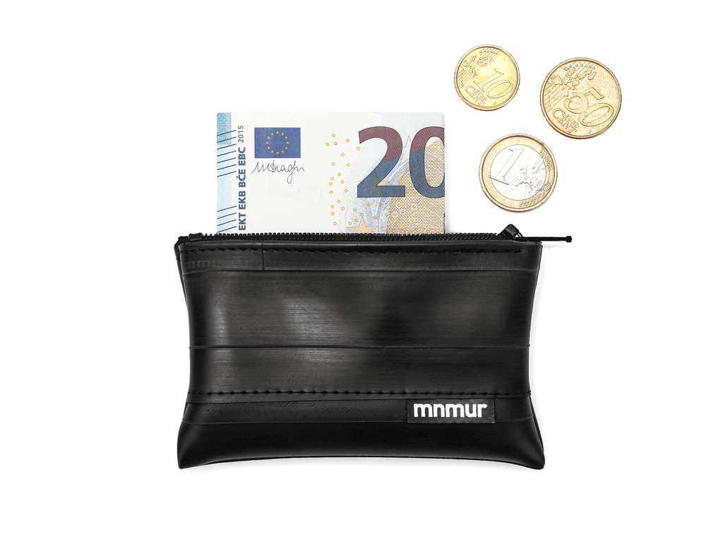 Recycled Inner Bike Tube Wallet, Vegan Coin Pouch Wallet