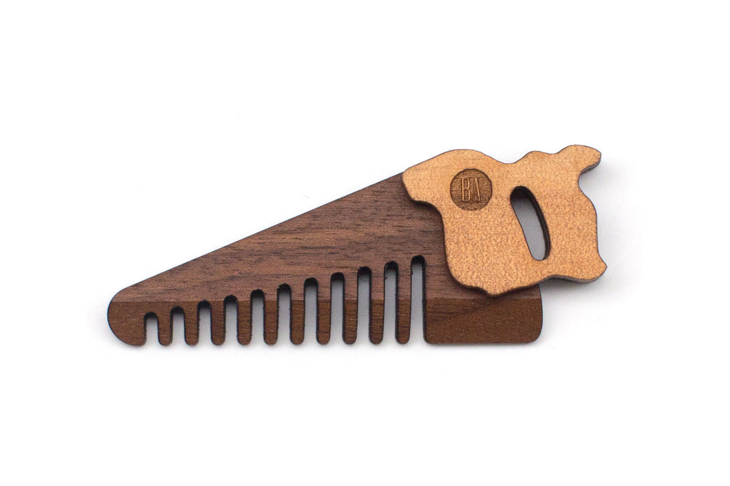 Pocket Saw Comb - Walnut
