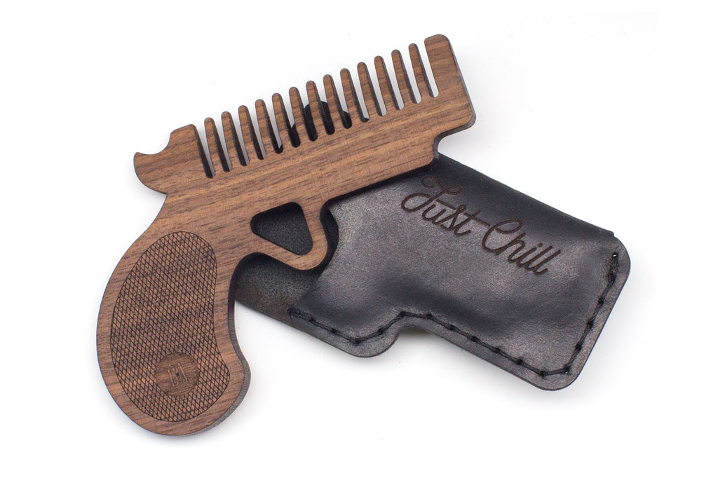 Pocket Pistol Comb - Walnut