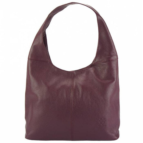 Alive with Style 'Caissa' Italian Leather Shoulder Bag in Black-Bordeaux-Tan-Salmon
