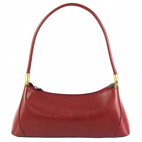 Alive With Style 'Cirilla' Italian Leather Handbag/Shoulder Bag in Black-Tan-Red-Black/Red-Brown-Red/Black
