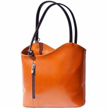 Alive With Style 'Cloe' Italian Leather Shoulder Bag/Backpack in Tan/Brown-Black-Blue/Brown-Black/Red-Red/Black-Dark Blue-Green/Brown-Black/Tan-Black/Brown-Brown-Brown/Tan-Tan-Light Taupe/Brown-Orange/Brown-Brown/Brown-Beige/Tan-Brown-Red