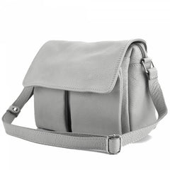 Alive With Style 'Argelia' Italian Leather Shoulder/Cross Body Bag in Yellow-Grey-Taupe-Black-Red