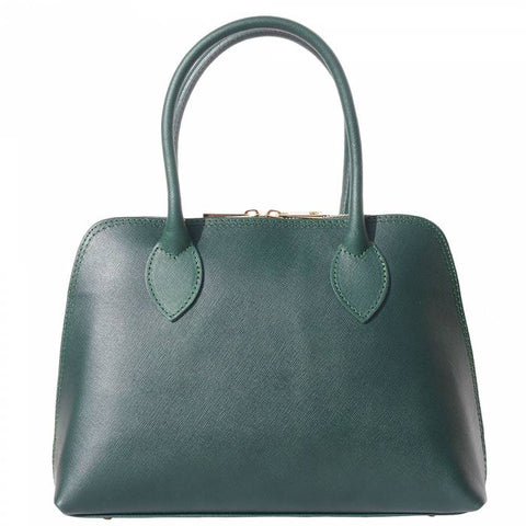 Alive With Style 'Giulia' Italian Leather Handbag in Black-Taupe-Green-Blue-Grey-Tan