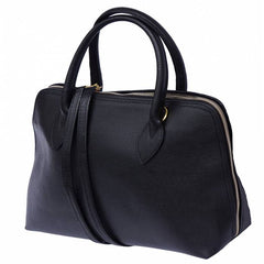 Alive With Style 'Giulia GM' Italian Leather Handbag in Black-Red-Blue-Tan-Pink-Light Taupe-Cream