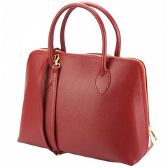 Alive With Style 'Giulia GM' Leather Handbag/Shoulder Bag in Red-Black-Cobalt-Taupe-Orange-Grey-Pink-White-Yellow-Tan-Bone-Navy