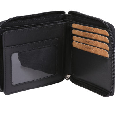 Alive With Style 'Henry' Leather Mens Wallet by Modapelle in Black-Brown