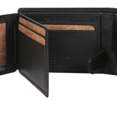 Alive With Style 'James' Leather Mens Wallet by Modapelle in Black