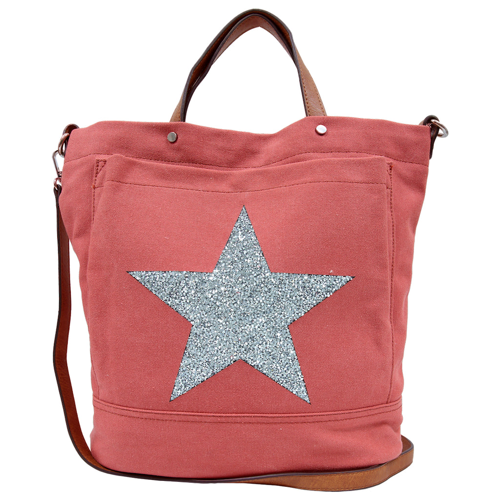 Alive With Style 'Star Power' Canvas Tote by Sassy Duck  in Red