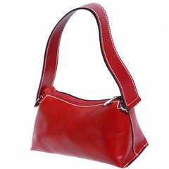 Alive With Style 'Priscilla' Italian Leather Shoulder Bag/Handbag in Red-Green-Navy-Wine-Black-Tan-Brown