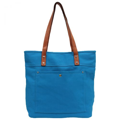 Alive With Style 'CanCan' Washed Canvas Tote/Shoulder Bag by Sassy Duck in Blue-Yellow