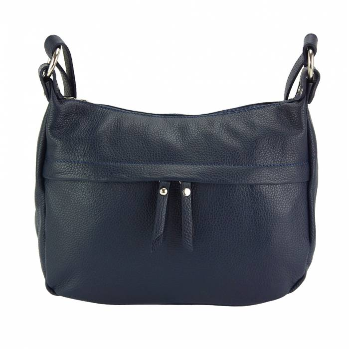 Alive With Style 'Delizia' Italian Leather Shoulder/Cross Body Bag in Navy-Black-Red-Tan-Grey-Green