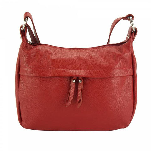 Alive With Style 'Delizia' Italian Leather Shoulder/Cross Body Bag in Navy-Red-Green