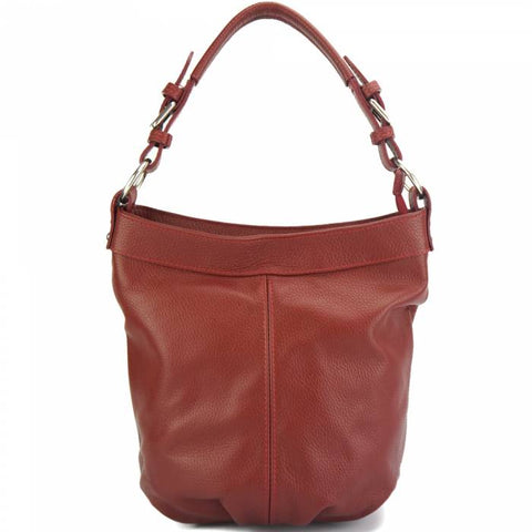Alive With Style 'Alisia' Italian Leather Handbag/Shoulder/Cross Body Bag in Red-Black-Navy-Tan-Beige-Grey