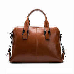 Alive With Style 'Montana' Leather Handbag/Tote in Black-Red-Tan