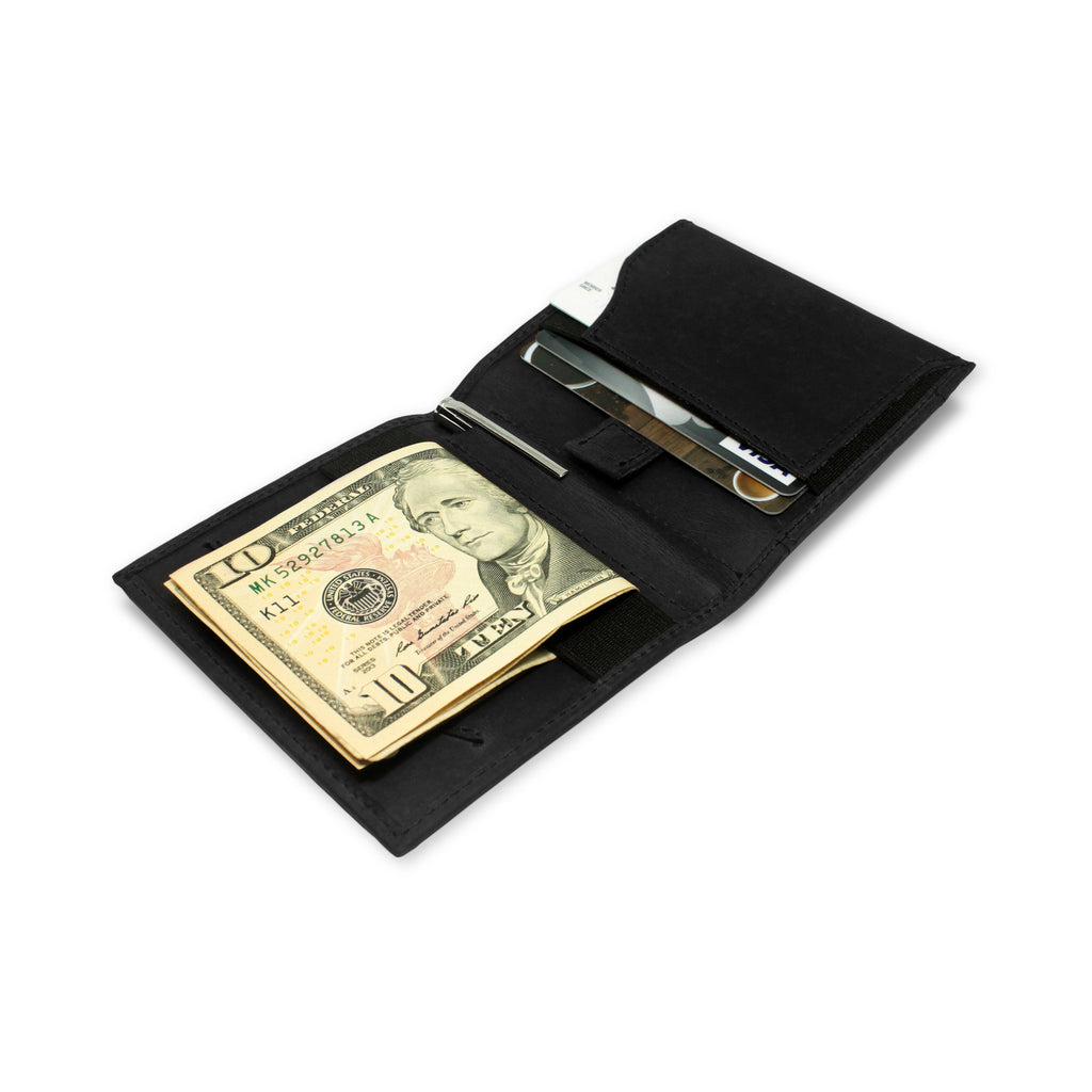 Aki Wallet in Crazy Horse Leather (Graphite Black)