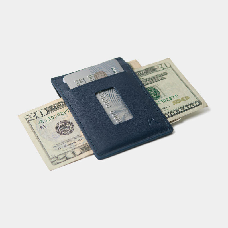 Slim Card Holder Minimalist Wallet - Haru Wallet (Blue) - Kisetsu.Co - slim rfid shielding minimalist wallet - bellroy slim sleeve, bellroy card sleeve