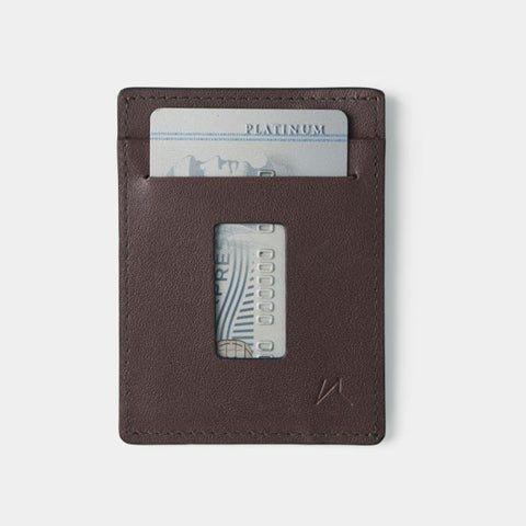 Slim Card Holder Minimalist Wallet - Haru Wallet (Cocoa) - Kisetsu.Co - slim rfid shielding minimalist wallet - bellroy slim sleeve, bellroy card sleeve