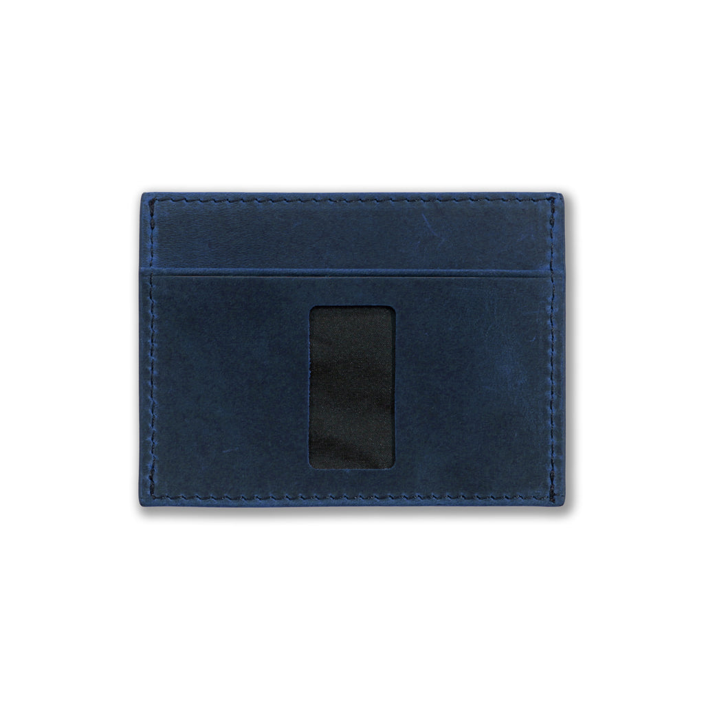 Haru Wallet in Crazy Horse Leather (Steel Blue)