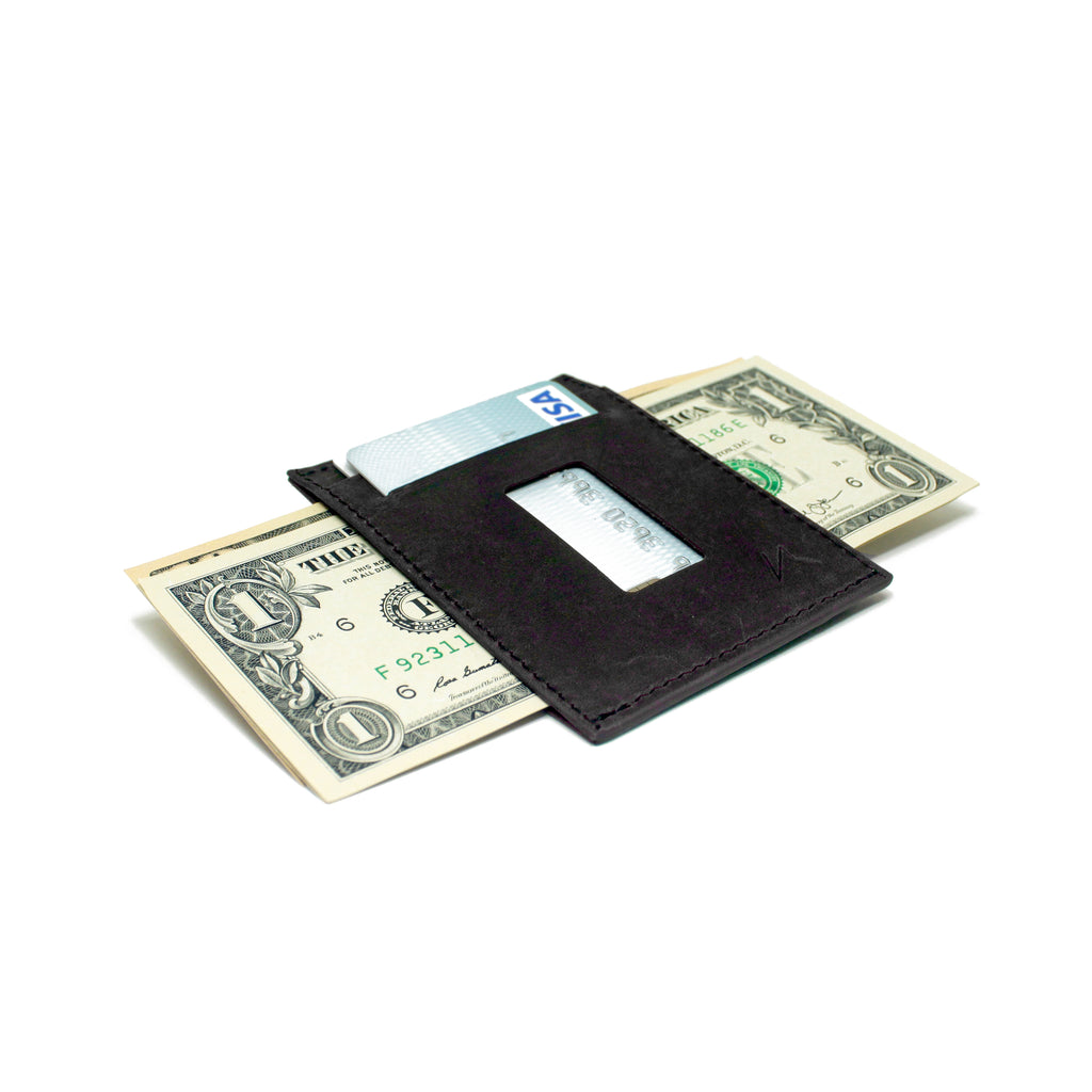 Haru Wallet in Crazy Horse Leather (Graphite Black)