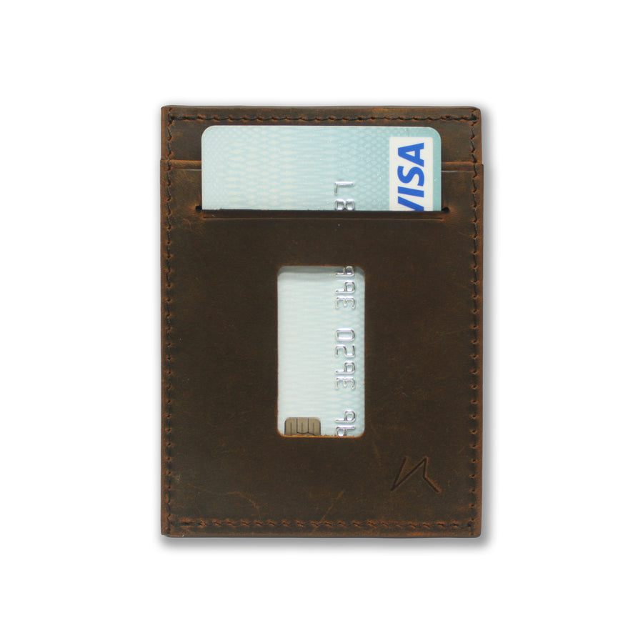 はる / The Haru Cardholder Wallet / Vintage Brown