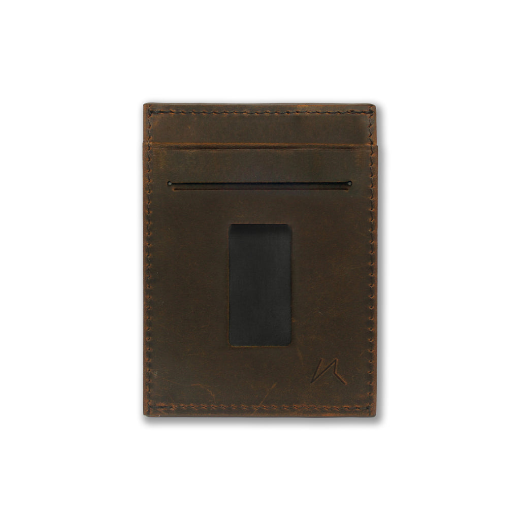 Haru Wallet in Crazy Horse Leather (Vintage Brown)