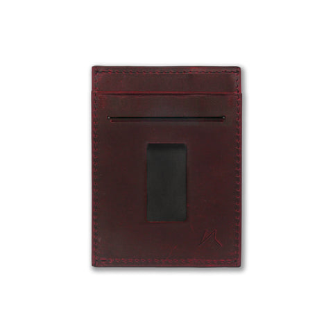 Haru Wallet in Crazy Horse Leather (Wine)