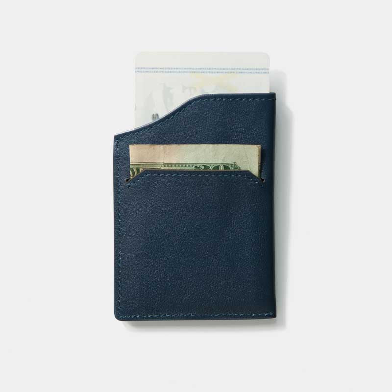 Smallest Minimalist Wallet - Natsu Wallet (Blue) - Kisetsu.Co - slim rfid shielding minimalist wallet - 3