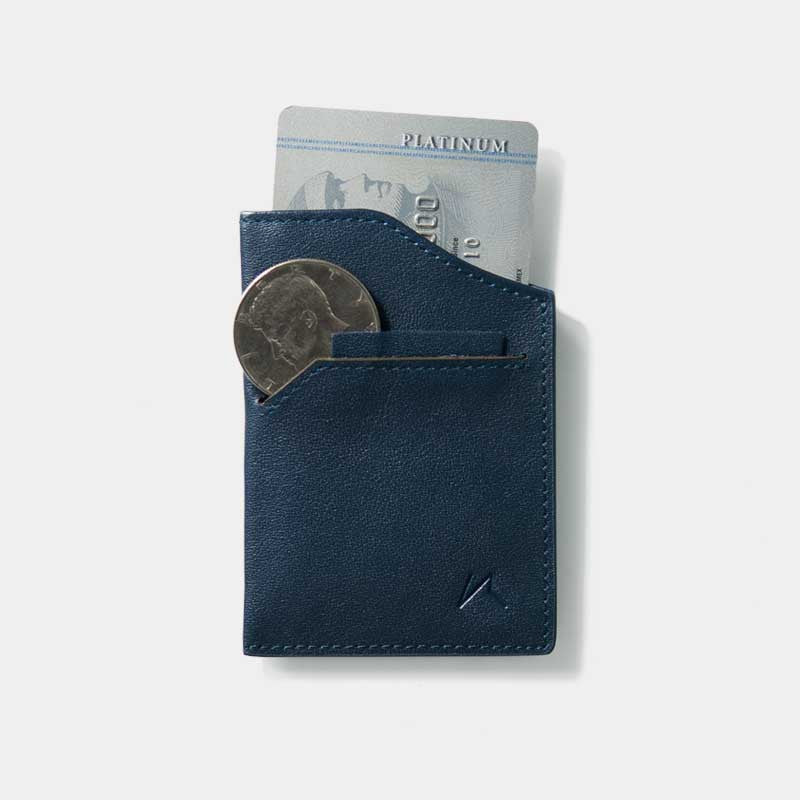 Smallest Minimalist Wallet - Natsu Wallet (Blue) - Kisetsu.Co - slim rfid shielding minimalist wallet - 2