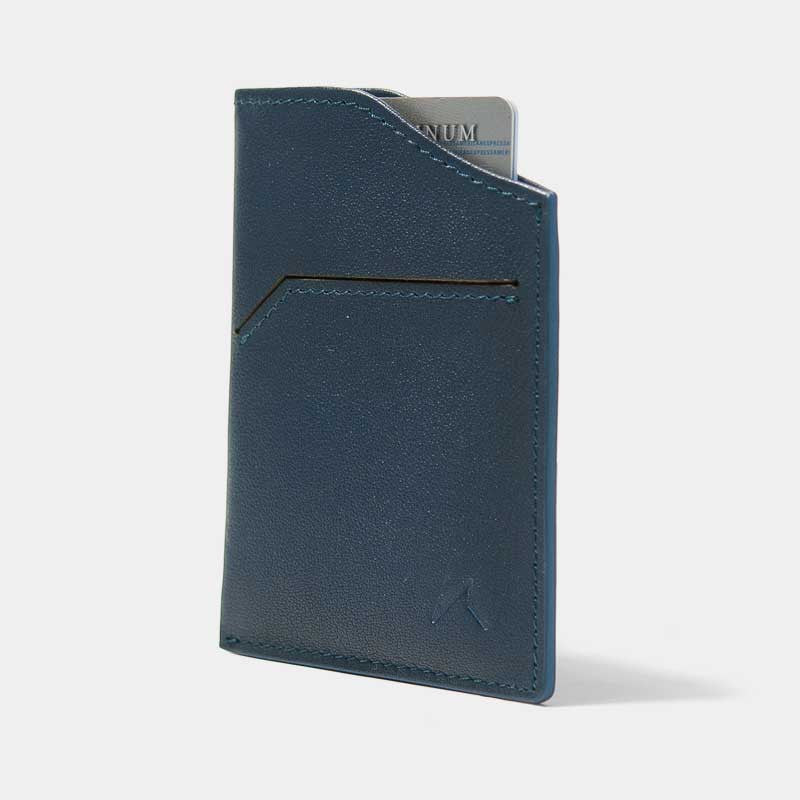 Smallest Minimalist Wallet - Natsu Wallet (Blue) - Kisetsu.Co - slim rfid shielding minimalist wallet - 1