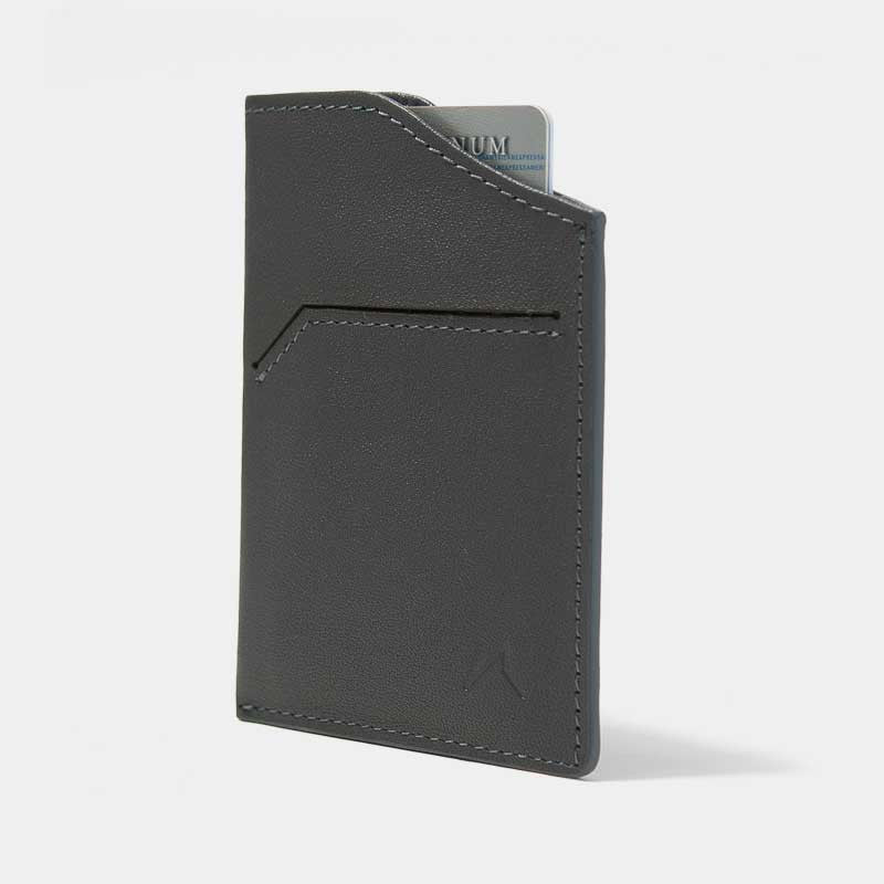Smallest Minimalist Wallet - Natsu Wallet (Grey) - Kisetsu.Co - slim rfid shielding minimalist wallet - 1