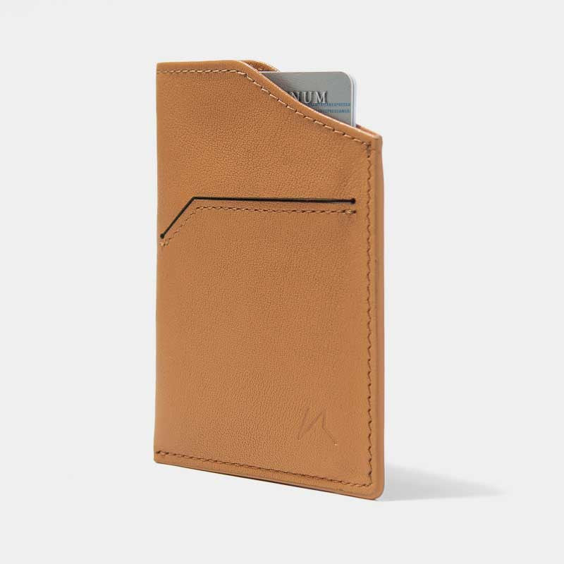 Smallest Minimalist Wallet - Natsu Wallet (Tanned) - Kisetsu.Co - slim rfid shielding minimalist wallet - 1