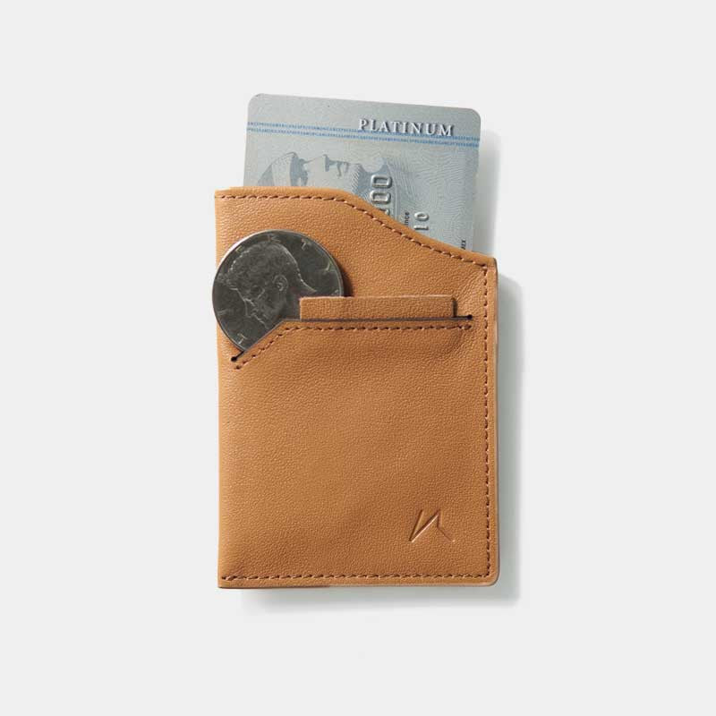 Smallest Minimalist Wallet - Natsu Wallet (Tanned) - Kisetsu.Co - slim rfid shielding minimalist wallet - 2