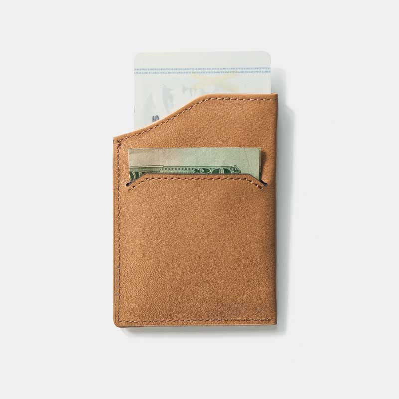 Smallest Minimalist Wallet - Natsu Wallet (Tanned) - Kisetsu.Co - slim rfid shielding minimalist wallet - 3
