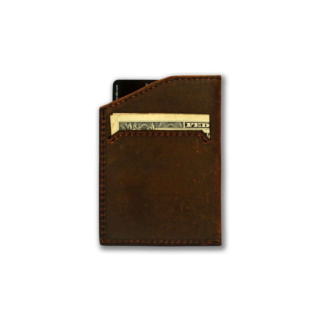 Natsu Wallet in Crazy Horse Leather (Vintage Brown)