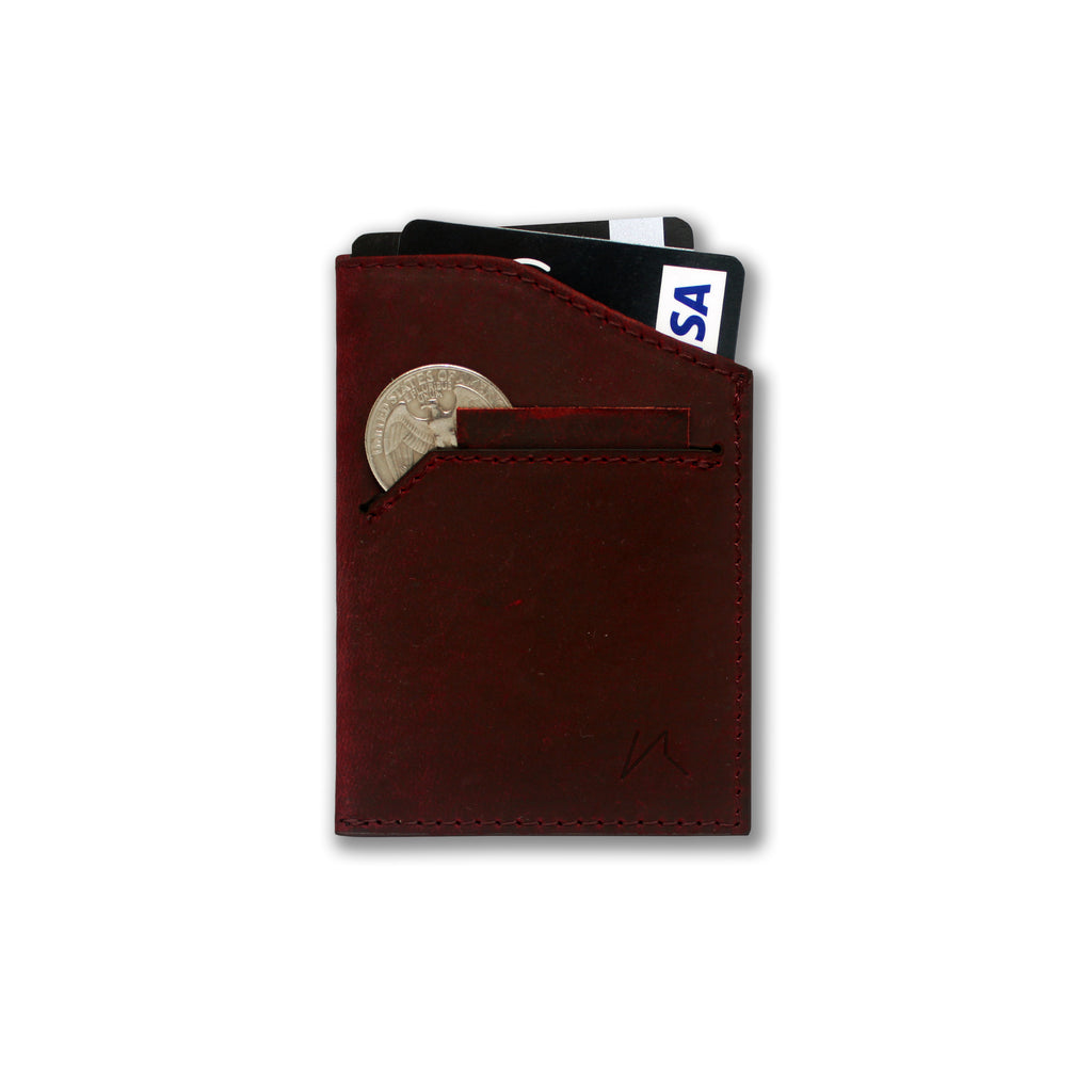 Natsu Wallet in Crazy Horse Leather (Wine)