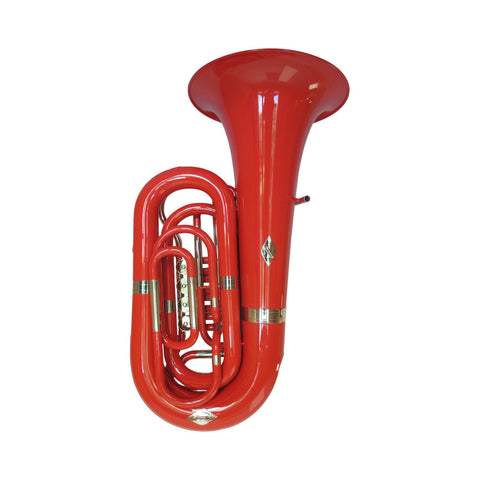 RED St. Petersburg  202LD BBb 4/4 Tuba WITH ABS CASE INCLUDED !!