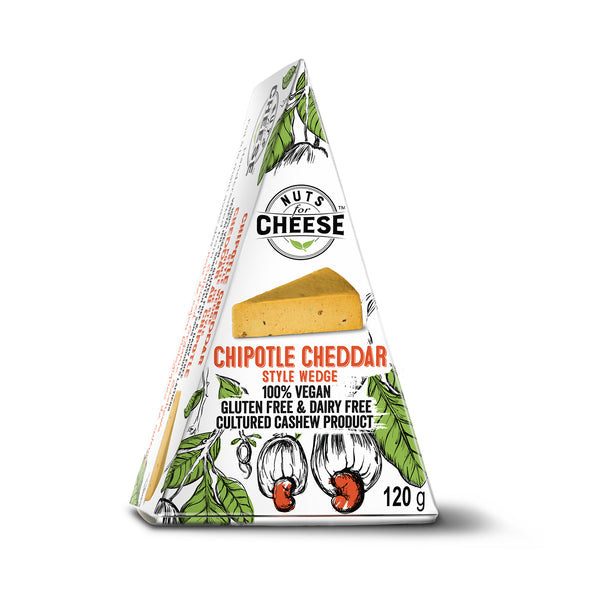Nuts For Cheese Chipotle Cheddar Wedge - 120g