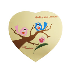 Sjaak's Valentine's 'Birdie' Heart Box - 200g