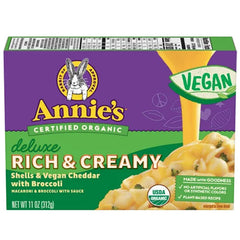 Annie's Deluxe Rich & Creamy Shells & Cheddar with Broccoli - 312g