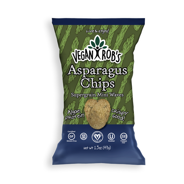 Vegan Rob's Asparagus Rice Chips - Multiple Sizes