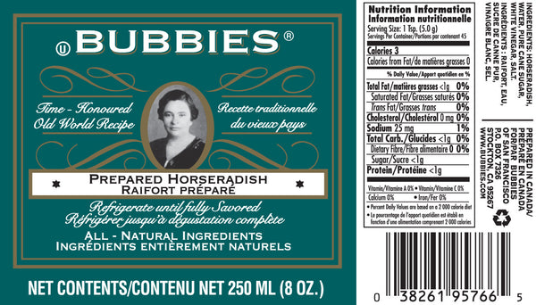 Bubbies Horseradish - 250ml