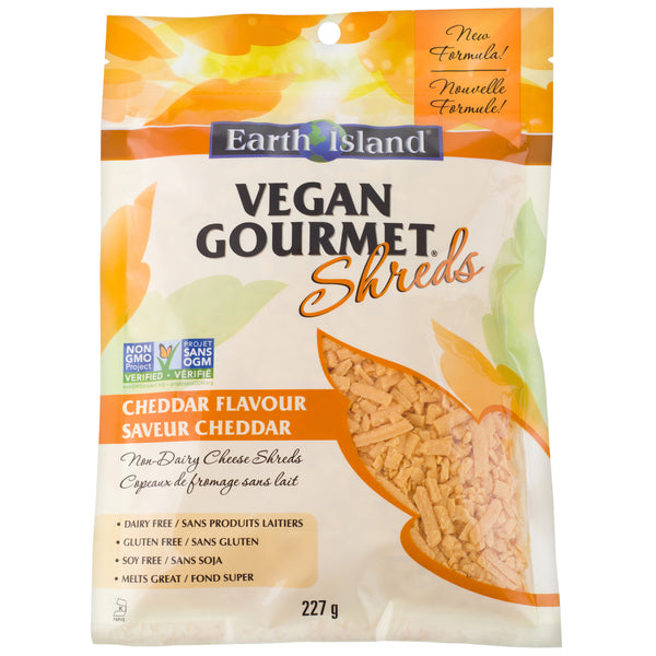 Earth Island Vegan Gourmet Cheddar Shreds - 227g