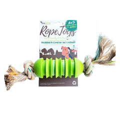 Define Planet Rubber Bone with Hemp Rope Dog Toy