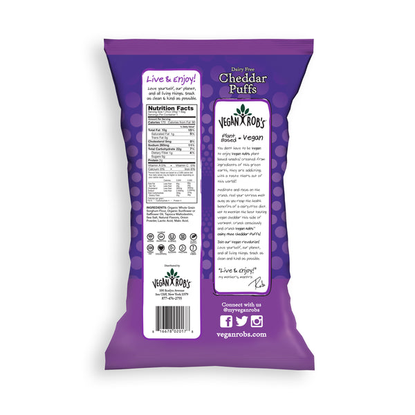 Vegan Rob's Dairy Free Cheddar Puffs - Multiple Sizes
