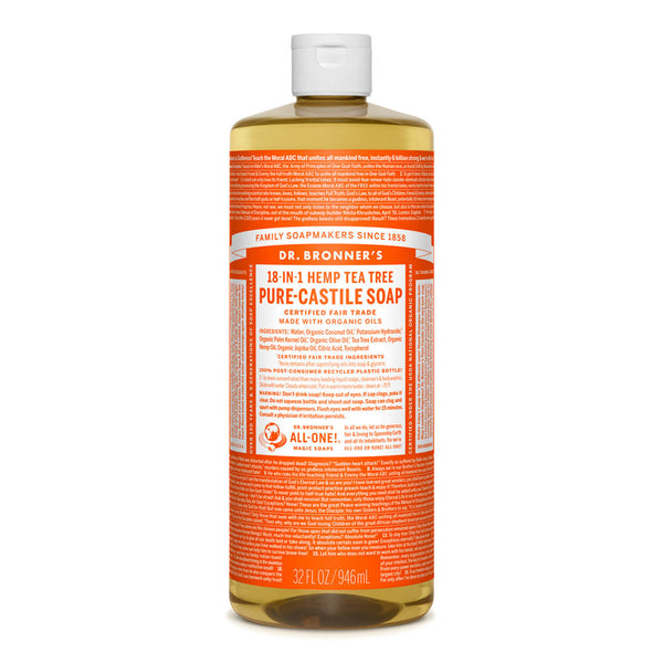 Dr. Bronner's Tea Tree Pure-Castile Liquid Soap - Multiple Sizes