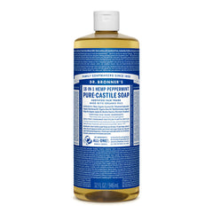 Dr. Bronner's Peppermint Pure Castile Liquid Soap - 946ml