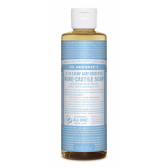 Dr. Bronner's Baby Unscented Pure-Castile Liquid Soap - 237ml, 946ml