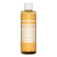 Dr. Bronner's Citrus Pure-Castile Liquid Soap - 237ml, 946ml