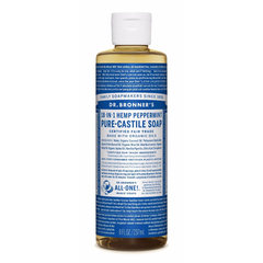Dr. Bronner's Peppermint Pure Castile Liquid Soap - 237ml, 946ml